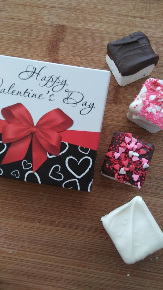 Mini Chocolate Dipped Marshmallow Gift Box