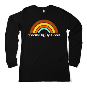 Focus on the good  - Long Sleeve Black