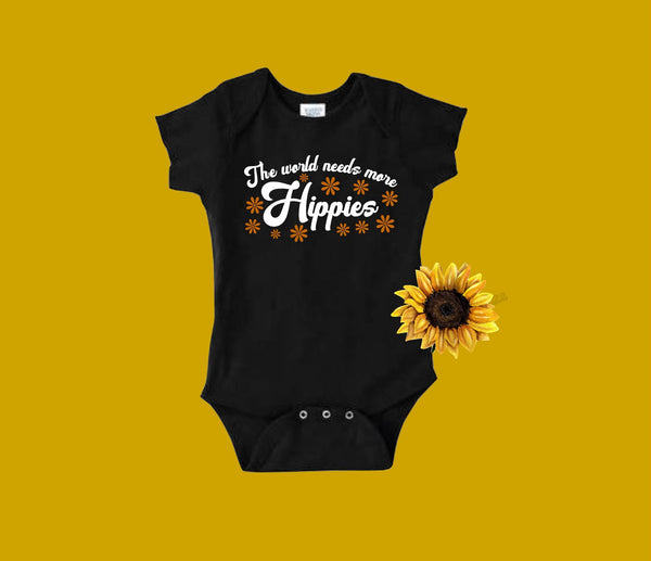 The world needs more Hippies - Baby Bodysuit - More Colors