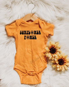 Sunflower Power -  Baby Bodysuit - Two Colors
