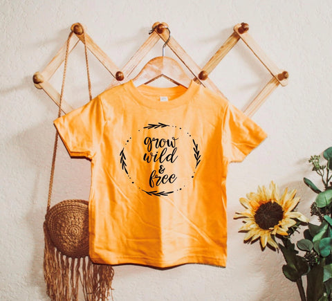 Grow Wild & Free - Toddler / Youth Tees - Two Colors
