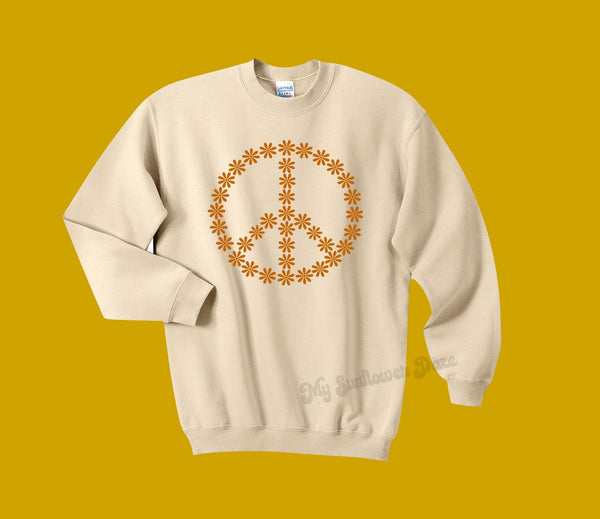 Peace Flower - Unisex Sweatshirt - Two Colors
