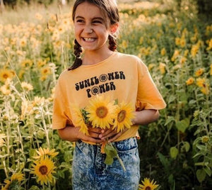Sunflower Power - Toddler / Youth Tees - More Colors