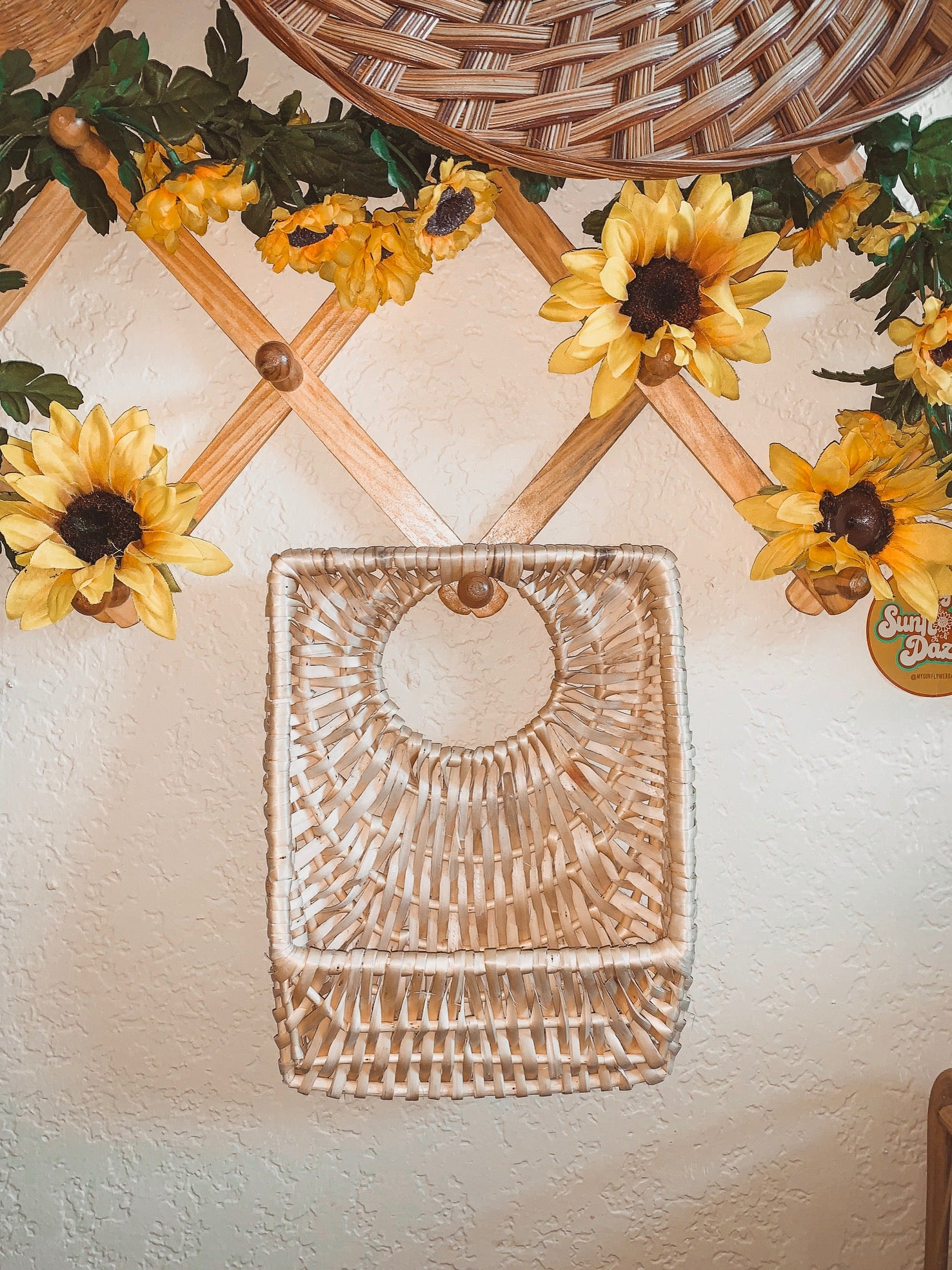 Wicker Wall Basket - Pre Loved