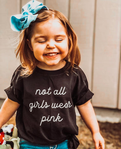 Not all girls wear pink - Toddler / Youth Tees