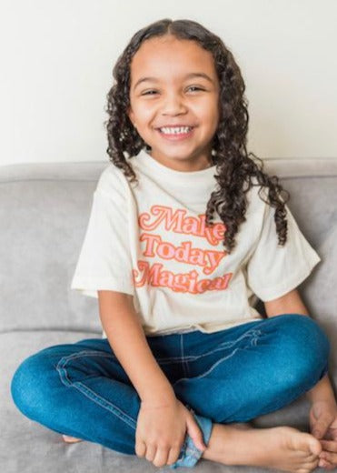 Make Today Magical - Pink & Texas Orange - Natural Color Bodysuit/Tee - READY TO SHIP