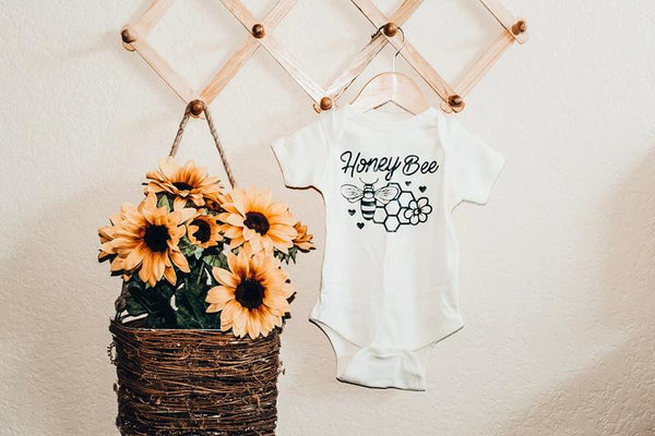 Honey Bee -  Baby Bodysuit - Two Colors