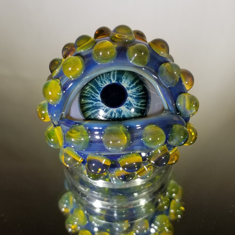 Large Eyeball Marble 1.5 inch Diameter by Keith Allen glass