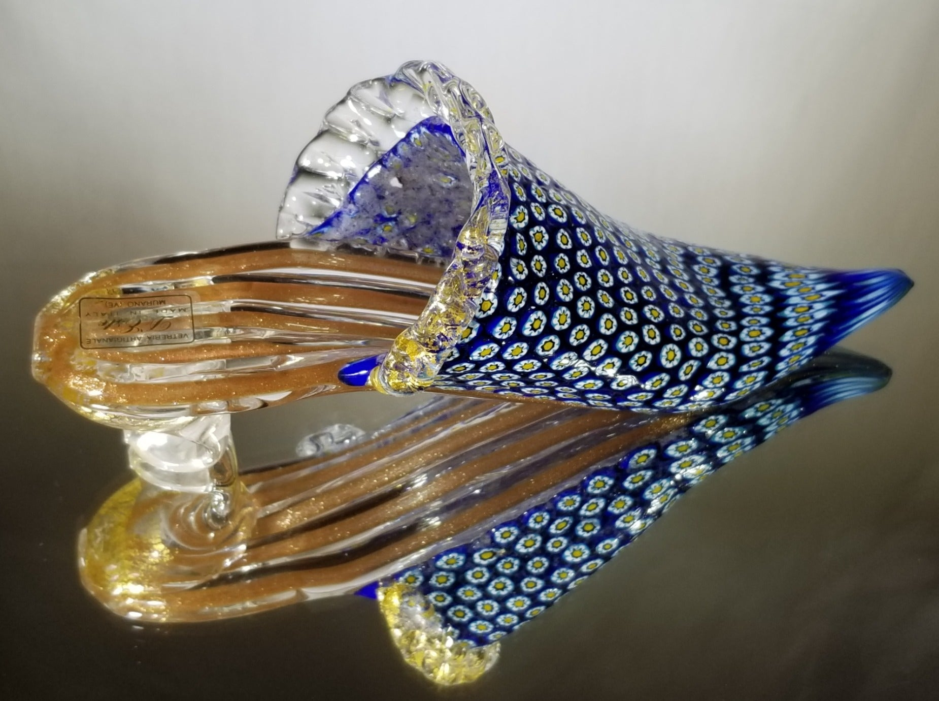 Glass slipper From Murano Italy
