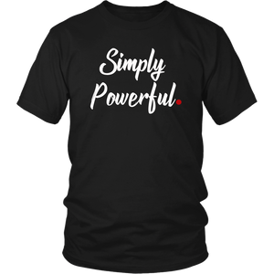 """Simply Powerful"" Red Period Project UNISEX Tee"