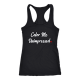 """Color Me Unimpressed"" Red Period Project Racerback Tank"
