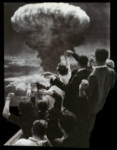 "Atomic Bomb Part - By: Bami Adedoyin (Analog Collage - 14"" x 17"")"
