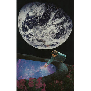 "Cosmic Pond - By: Justin Nelson (Analog Collage - 7"" x 11.5"")"