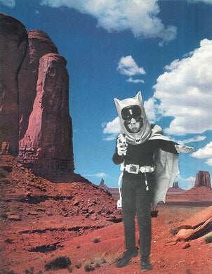 Batboy's Last Stand - By: Morgan Jesse Lappin (Analog Collage - 9.25
