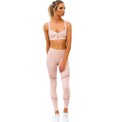 Pink Yoga Set - Prime Desire Athleisure - Best High Waisted Workout Leggings