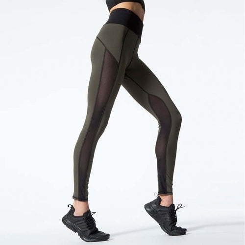 Sexy Mesh Patchwork Sports Leggings - Prime Desire Sportswear - Best High Waisted Leggings
