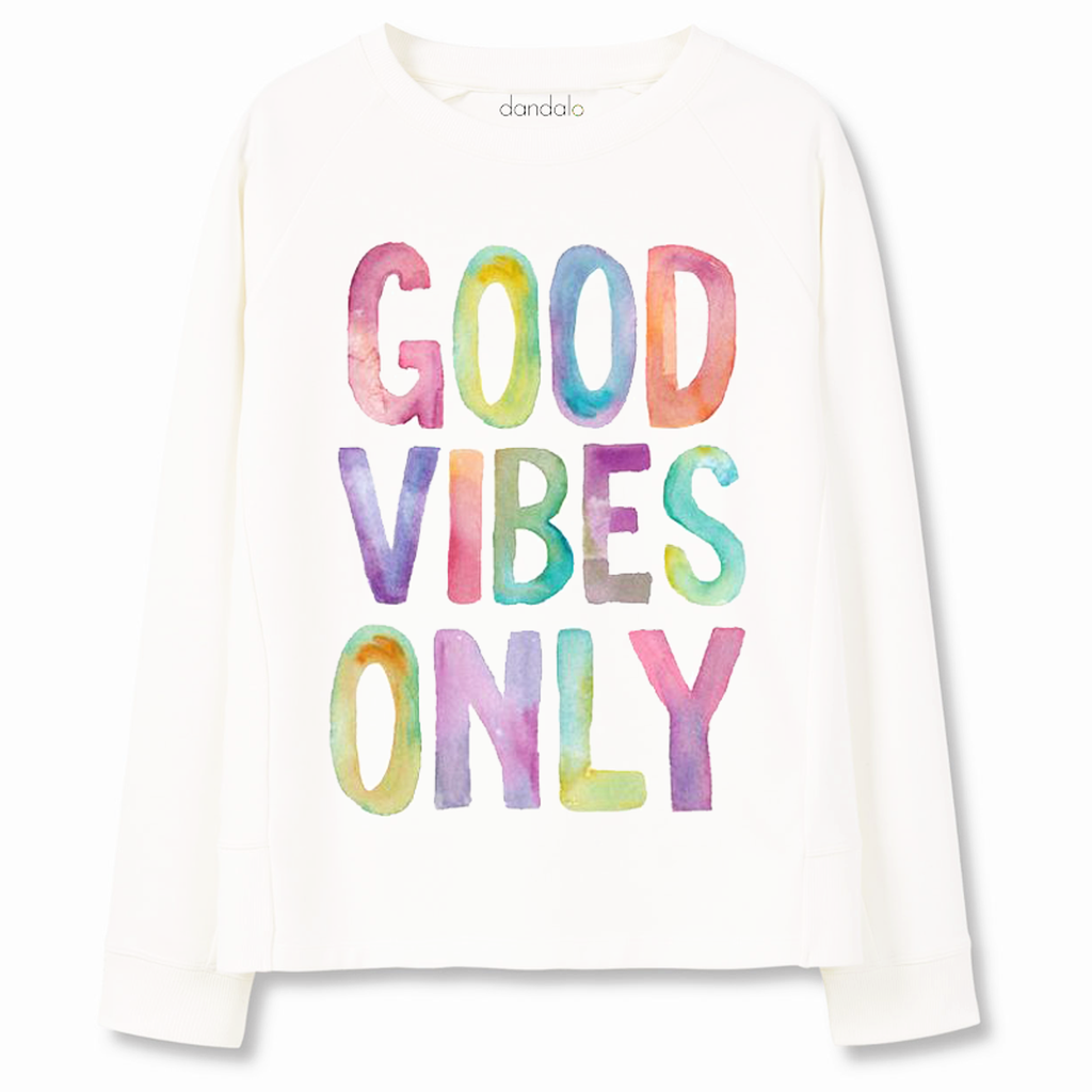 "Sweatshirt ""Good Vibes Only"" - Prime Desire Athleisure - Best High Waisted Workout Leggings"
