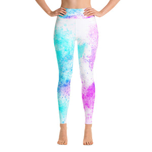 Inksplash Yoga Pants - Exclusive Design - Prime Desire Athleisure - Best High Waisted Workout Leggings
