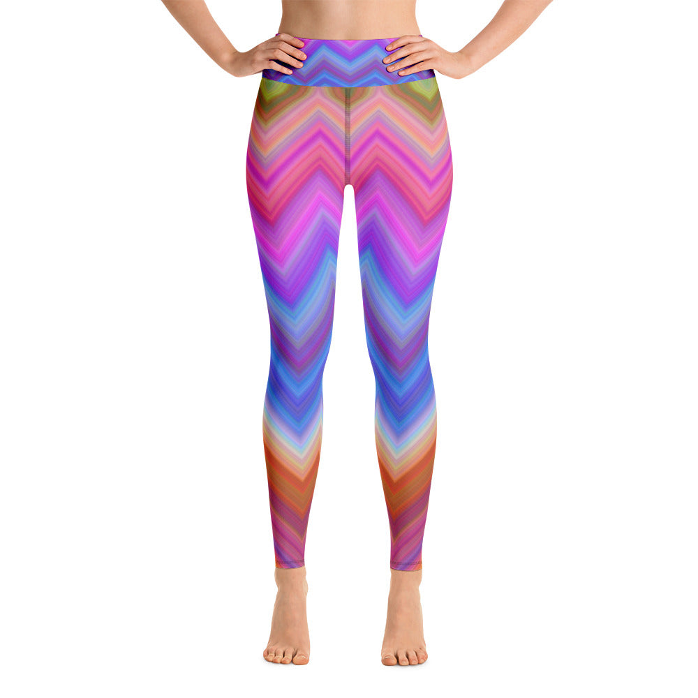Tribal Stripes Print Leggings - Exclusive Design - Prime Desire Athleisure - Best High Waisted Workout Leggings