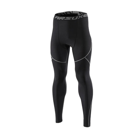 Combat Black Leggings for Men - Prime Desire Sportswear - Best High Waisted Leggings