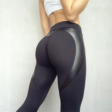 BlackHeart Booty Black Leggings - Prime Desire Sportswear - Best High Waisted Leggings