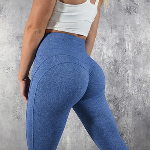 GymLife High Waist Leggings - Blue - Prime Desire Athleisure - Best High Waisted Workout Leggings