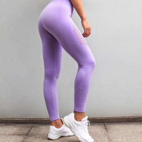 GymAddict High Waist Leggings - Light Purple - Prime Desire Athleisure - Best High Waisted Workout Leggings