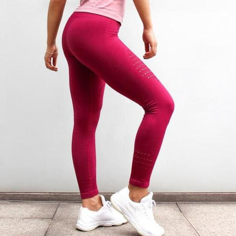 GymAddict High Waist Leggings - Red - Prime Desire Sportswear - Best High Waisted Leggings