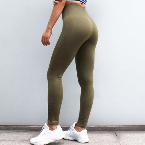 GymAddict High Waist Leggings - Green - Prime Desire Athleisure - Best High Waisted Workout Leggings