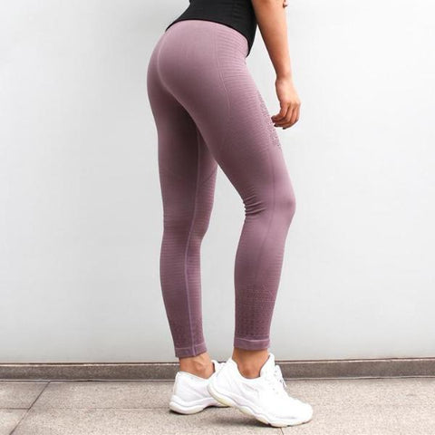 GymAddict High Waist Leggings - Purple - Prime Desire Athleisure - Best High Waisted Workout Leggings