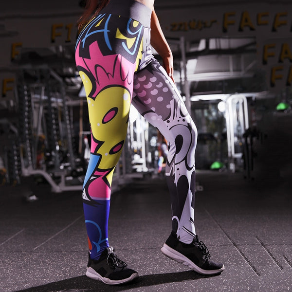 Boom Girl Leggings - Prime Desire Sportswear - Best High Waisted Leggings