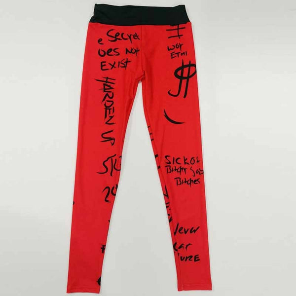 Letters Streetwear Leggings - Prime Desire Sportswear - Best High Waisted Leggings