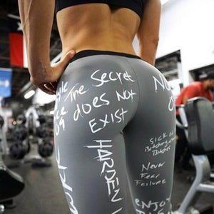 Letters Streetwear Leggings - Prime Desire Athleisure - Best High Waisted Workout Leggings