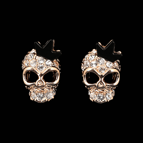 Crystal Skull Earrings
