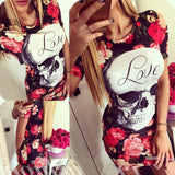 Floral Skull Party Dress