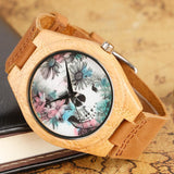 Handmade Bamboo Skull Watch