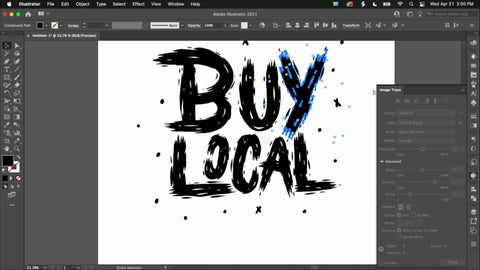 """An image reading """"Buy Local"""" with the """"Y"""" highlighted"""