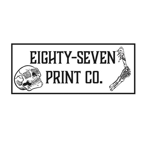 eighty-seven print co with a skull