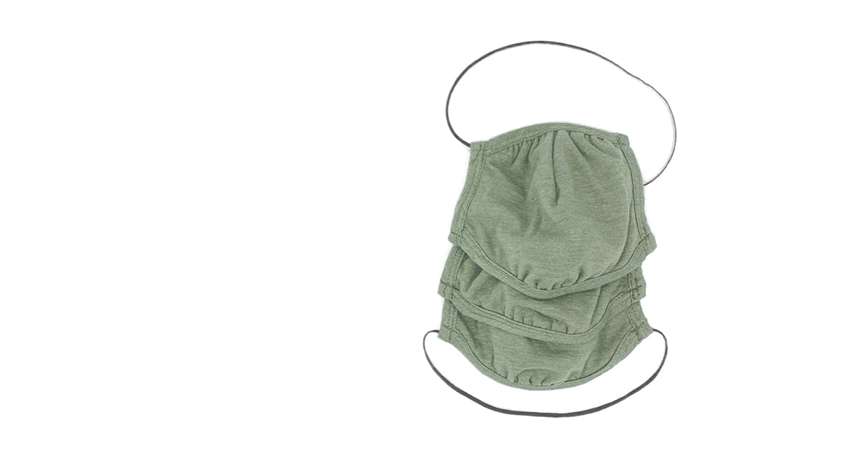 3pk of Olive Green Allmask™ Protective Face Mask