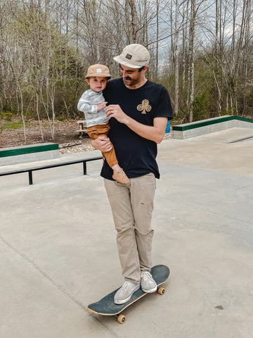 Cory and Davey love to skateboard