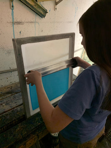 lucy coating a screen