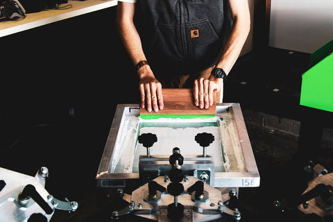 person screen printing