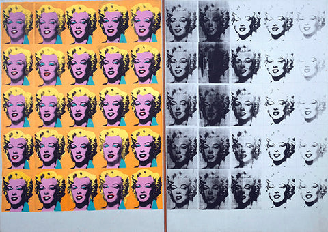 """Andy Warhol's 1962 screen print entitled """"Marilyn Diptych."""""""