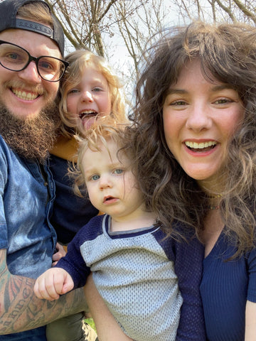 Jonathan, his wife Courtney, and their kids