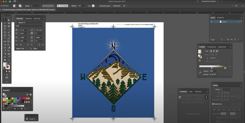 screenshot of a design in adobe illustrator