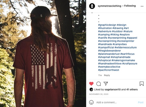 instagram post of a person wearing a shirt