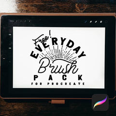 free everyday brush pack for procreate