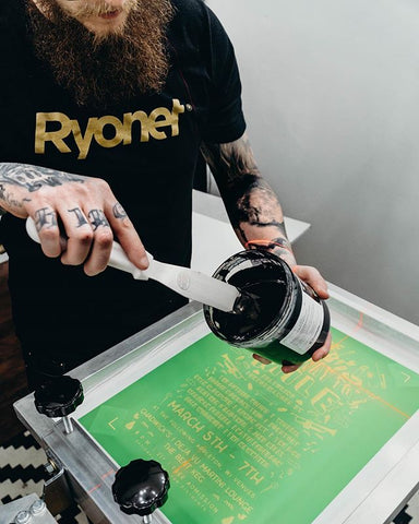 printer putting ink on screen
