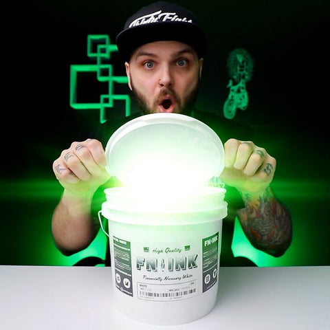 lee opening up a gallon of white fn-ink