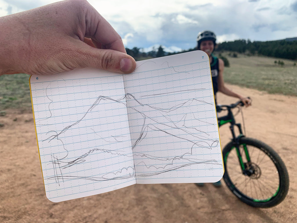 Sketchbook Trail Sketch: Hall Ranch (one of my favorite Front Range rides)